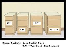 kitchen cabinet sizes