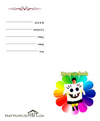 spongebob birthday party invitations