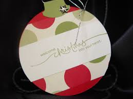 hand stamped christmas cards