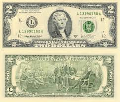 old two dollar bills