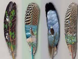 feathers paintings