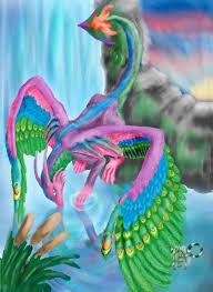 dragon and peacock
