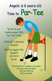 golf invites