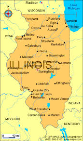 map of the illinois