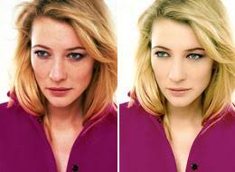 celebrity retouching before and after