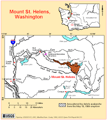 mount st helens location map