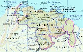 detailed map of venezuela