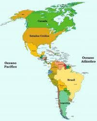 continente americano mapas