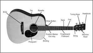 diagram of a guitar