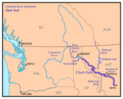clark fork river map
