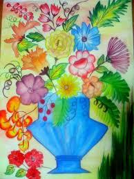 flower vase paintings