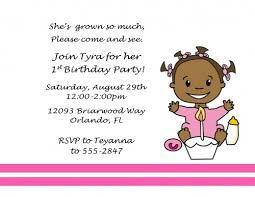 first birthday girl invitations