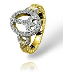 gold peace sign rings