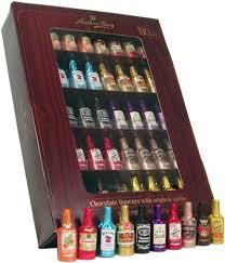 chocolate liqueur bottles