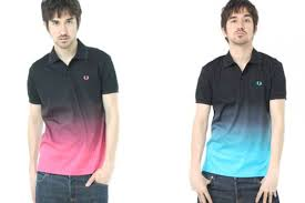 pink fred perry polo