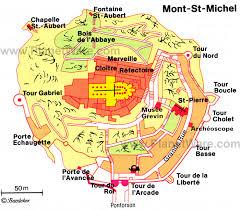 mont saint michelle map