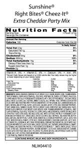 cheez it nutrition facts