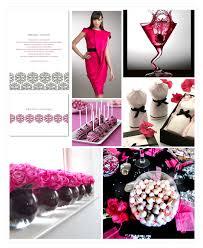 pink and black wedding invites