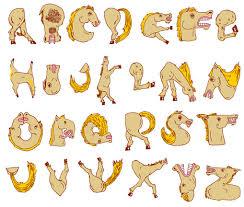 horse alphabet