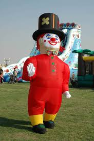 inflatable clowns