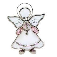 glass angel figurine