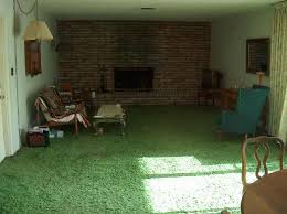 green shag rugs
