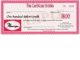 hotel certificates