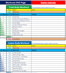 10 minute trainer customized workout calendar
