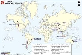 map of major mountain ranges