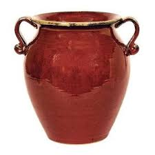 red ceramic pots