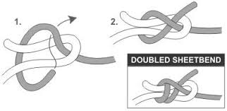 double sheet bend knot