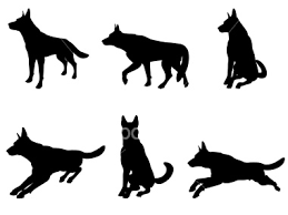 german shepherd silhouettes
