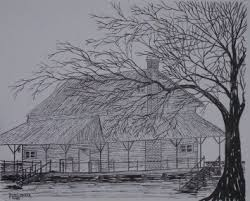 drawings of old houses