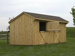 2 horse barn