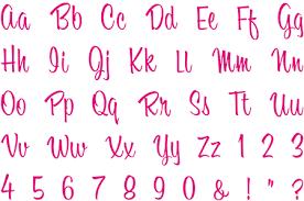 alphabets letters