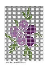 cross stitch flower