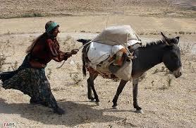 mujer con burro