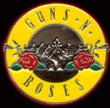 guns and roses belt buckle