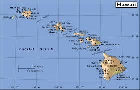 hawaii island map