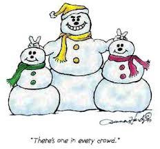 cartoon snow men