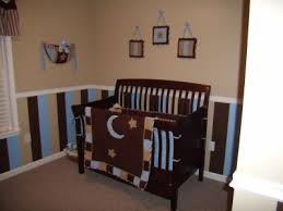 blue and brown nursery