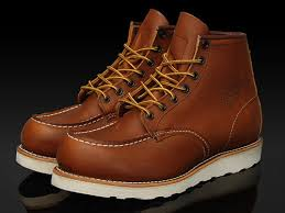 brown work boot