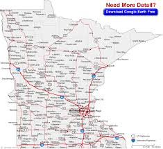 map of mn with cities