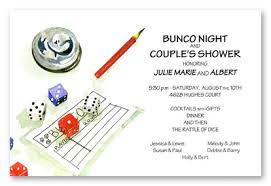 bunco invitations