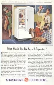 antique general electric refrigerator