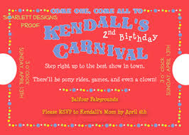 carnival themed invitations