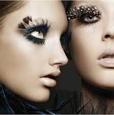 false eyelashes feathers