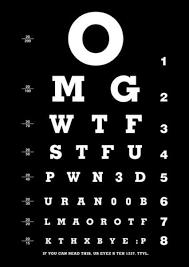 eye exam letters