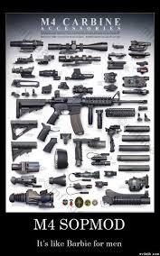 m4 carbine accessories poster