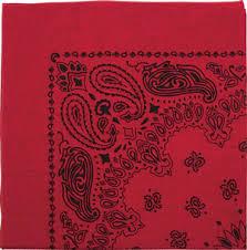 red bandana clothing